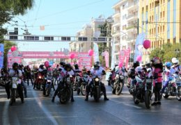 Lady riders race for the cure